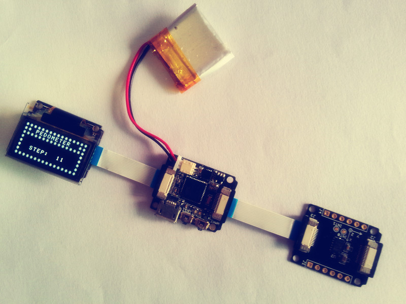 DIY your own pedometer with Seeed Xadow products