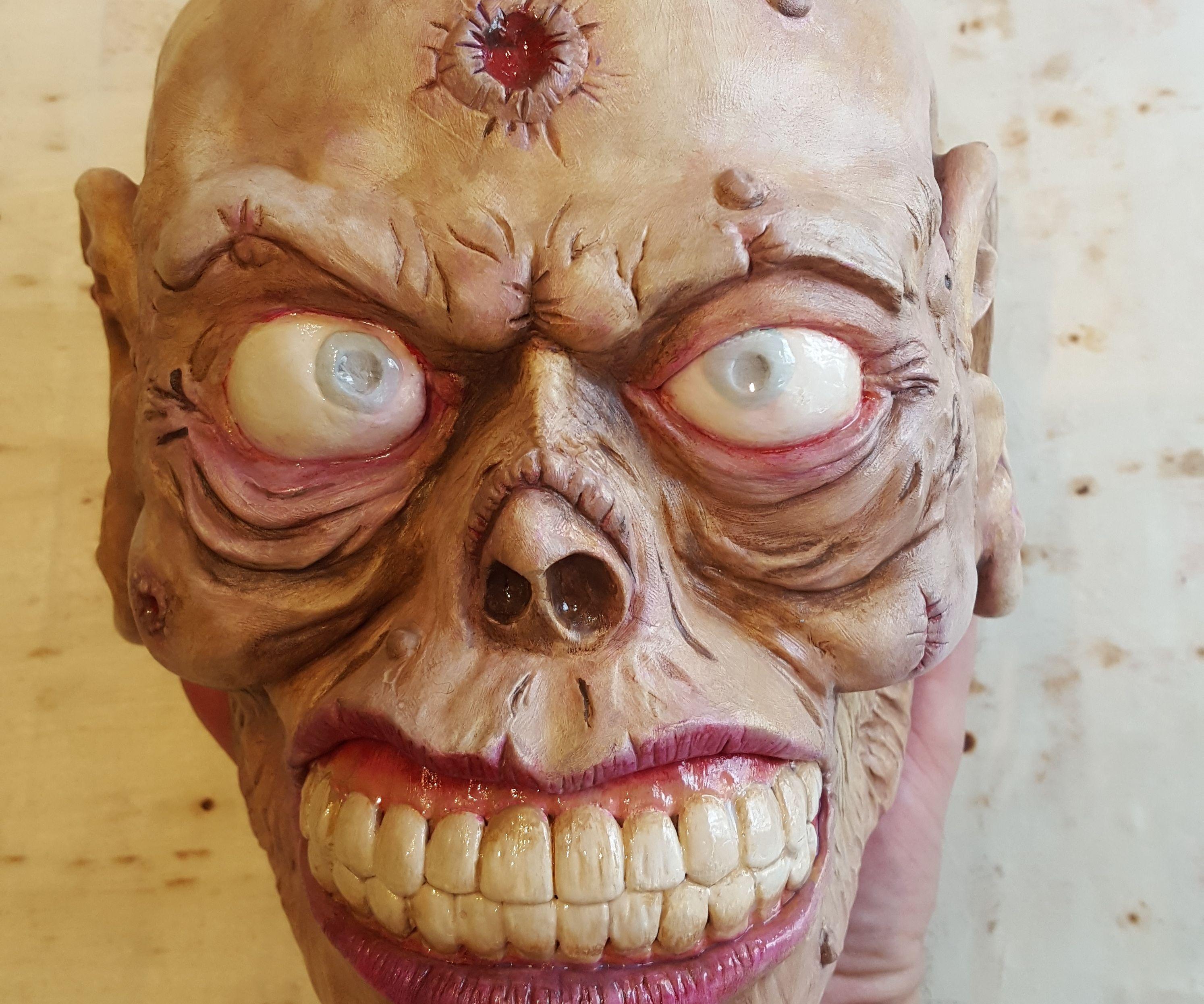 Halloween Zombie Head Prop