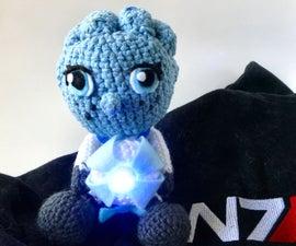 Mass Effect Crochet: Liara T'Soni and Glyph