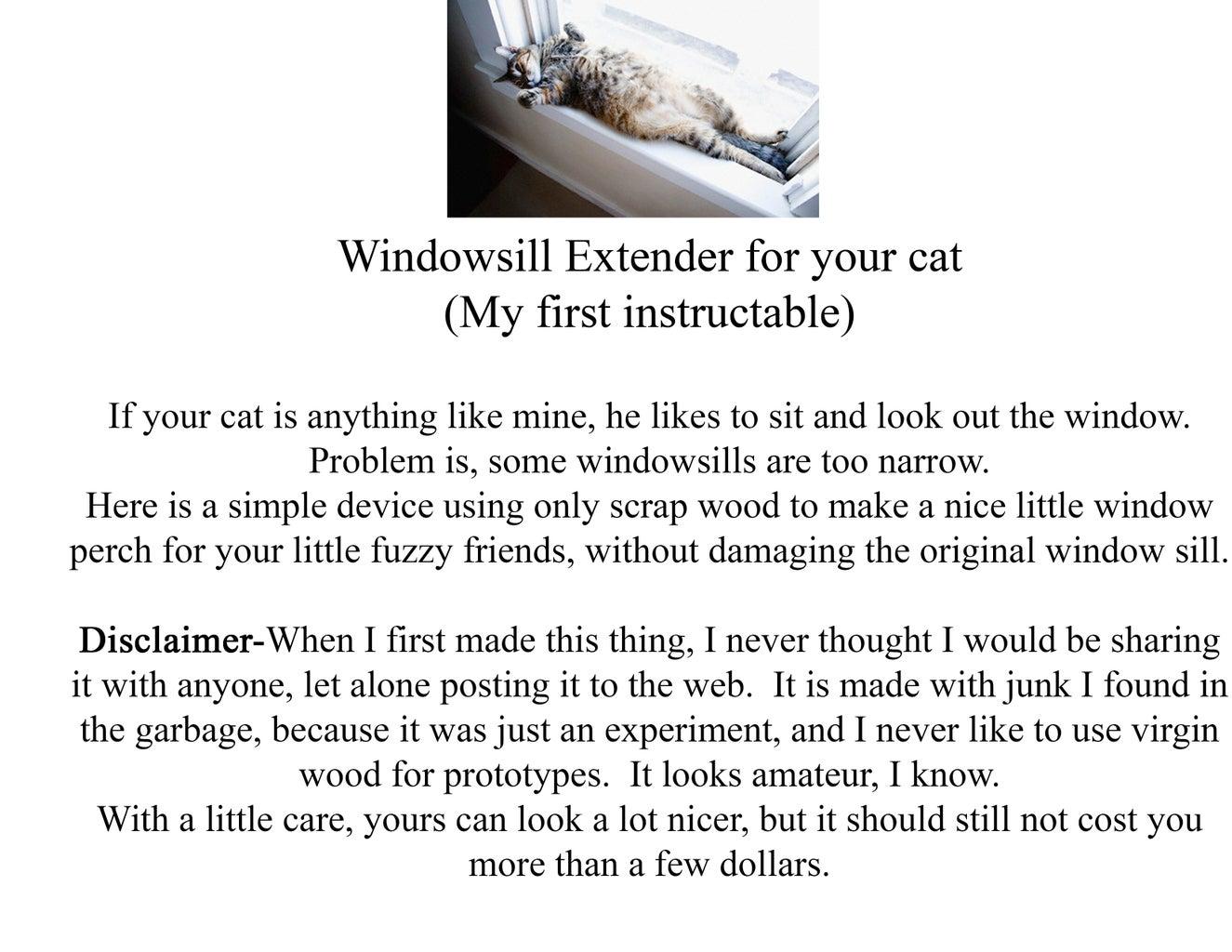 Cat Lounger/ Windowsill Perch