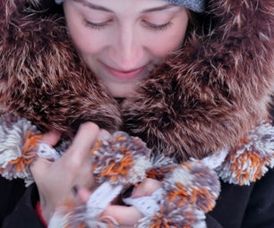 An Unusual Scarf From Pompoms