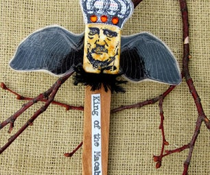 Edgar Allan Poe Bookmark/Plant Stick