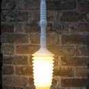 Upcycled glowing Toilet plunger Lamp!
