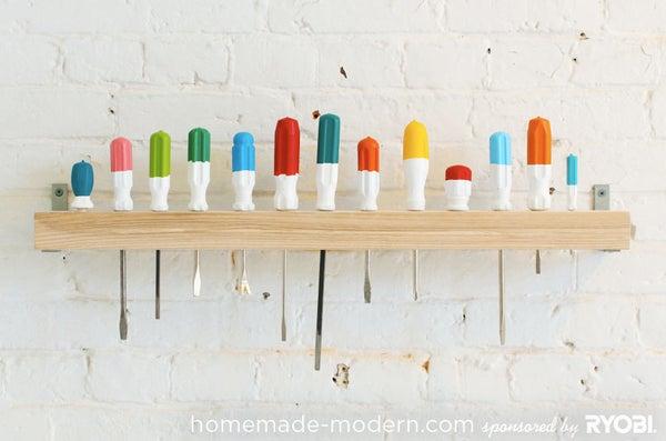 HomeMade Modern DIY Screwdriver Coat Rack