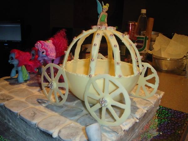 White Chocolate Carriage Cake