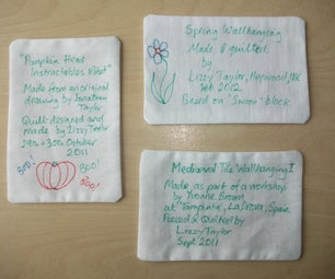 Quilting Basics : Muslin and Dryer Sheet Quilt Label