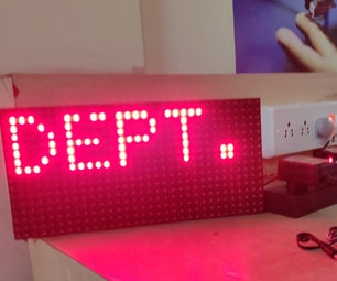 P10 DMD Display With Arduino and RTC DS3231