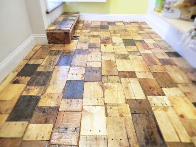 Creating A Diy Pallet Wood Floor With, Pallet Of Laminate Flooring