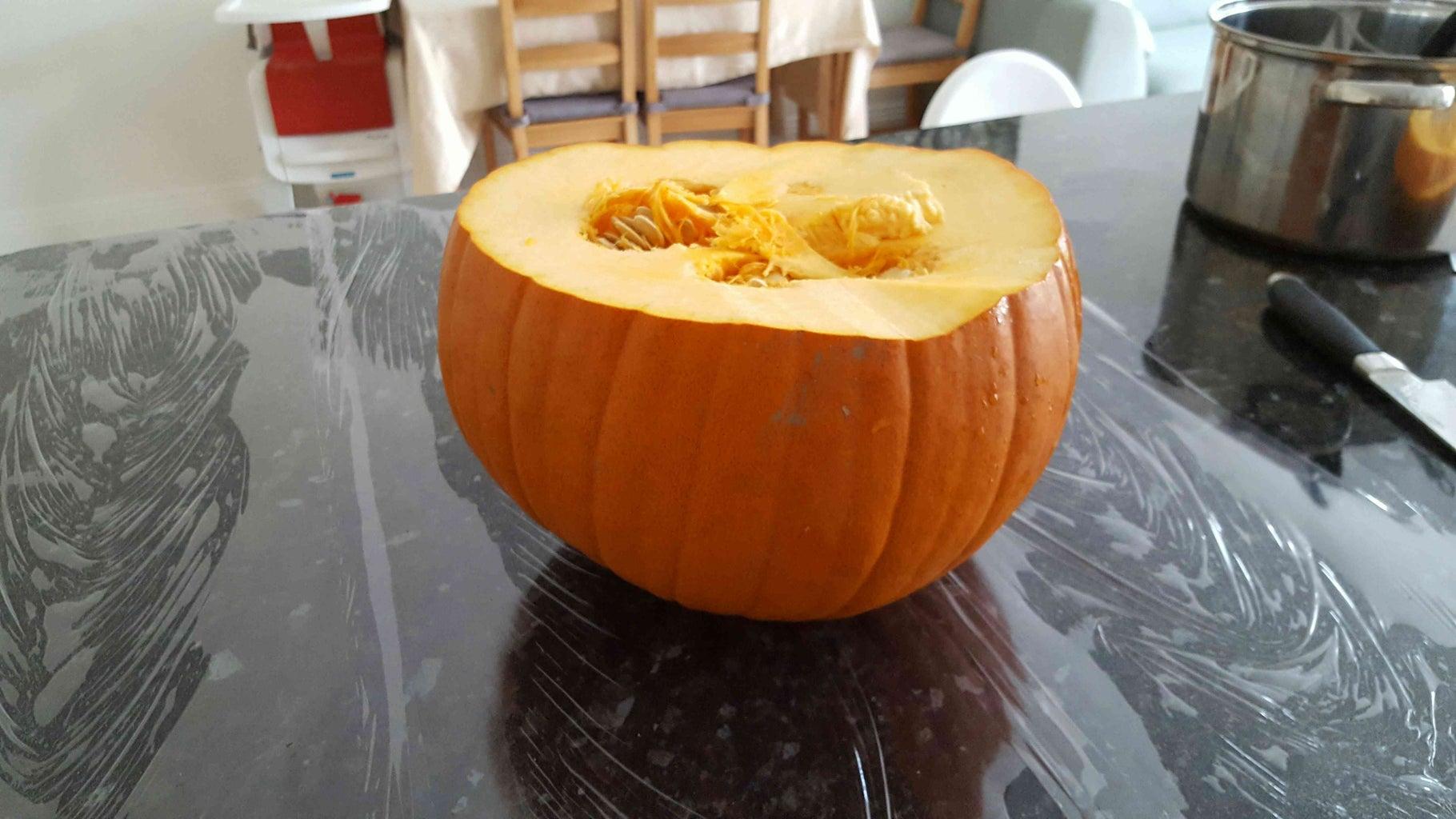 Cut and Clean the Pumpkin