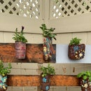 Making Flower Hangers With Recycled Bottles