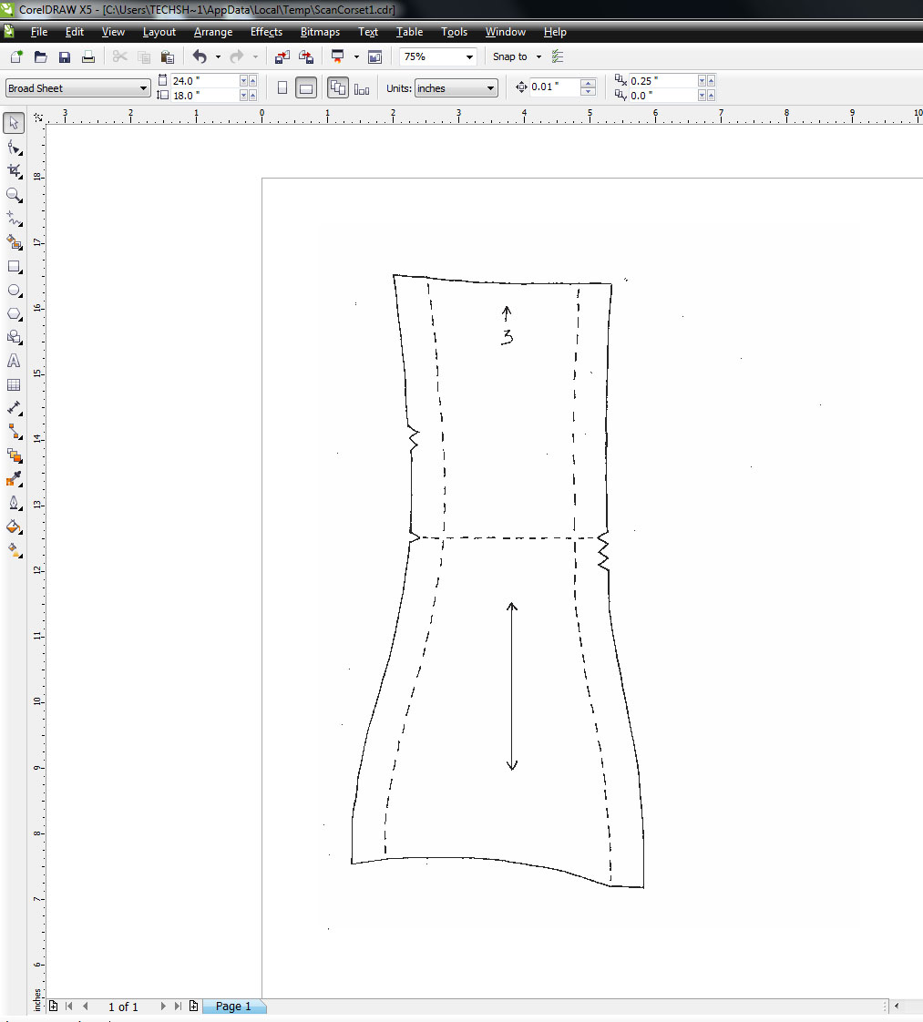 Convert a Paper Pattern to a Laserable File