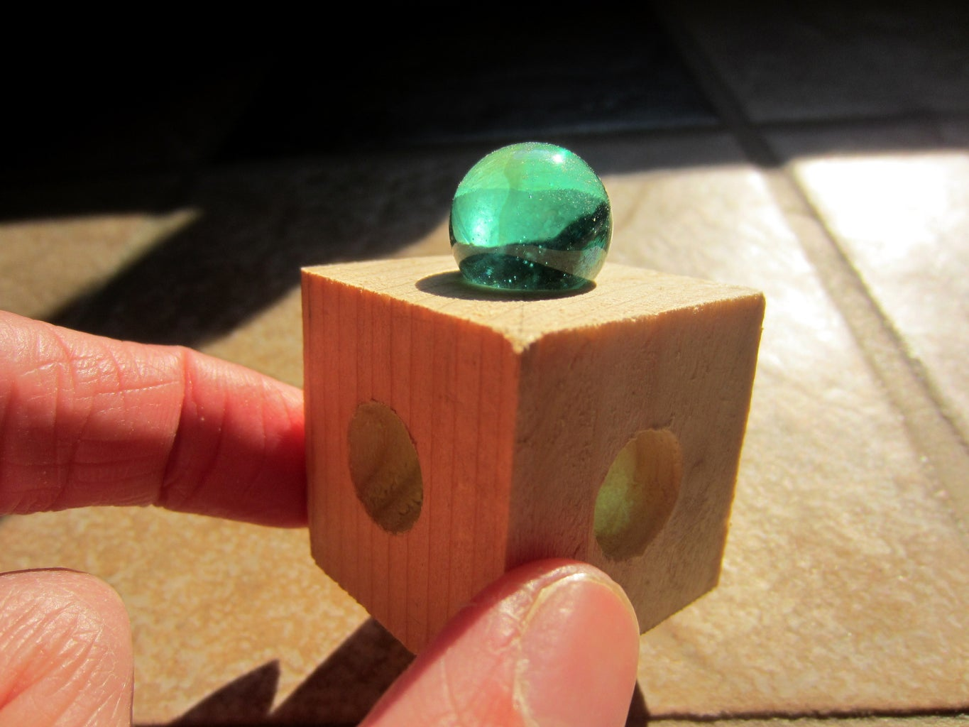 Cut a Cube and Drill Holes