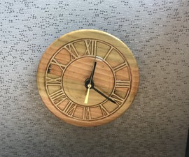 Making a Cubicle Wall Clock With a  Lathe