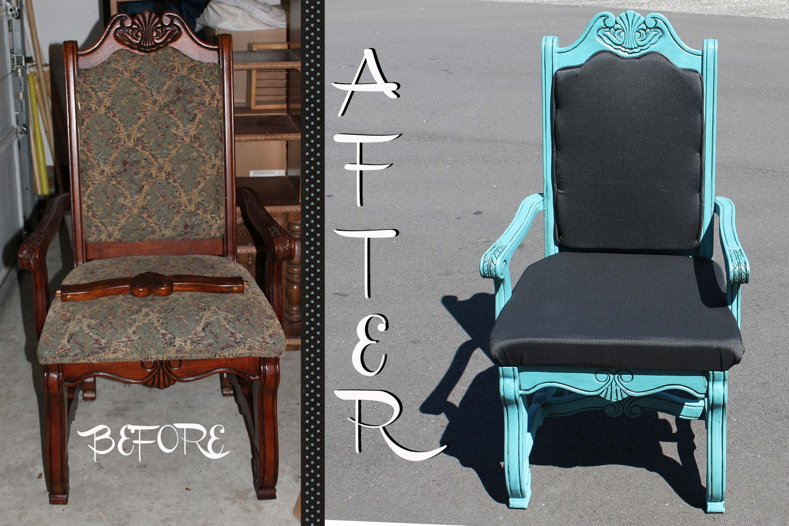 Vintage-style Queen Throne Chair Redo!