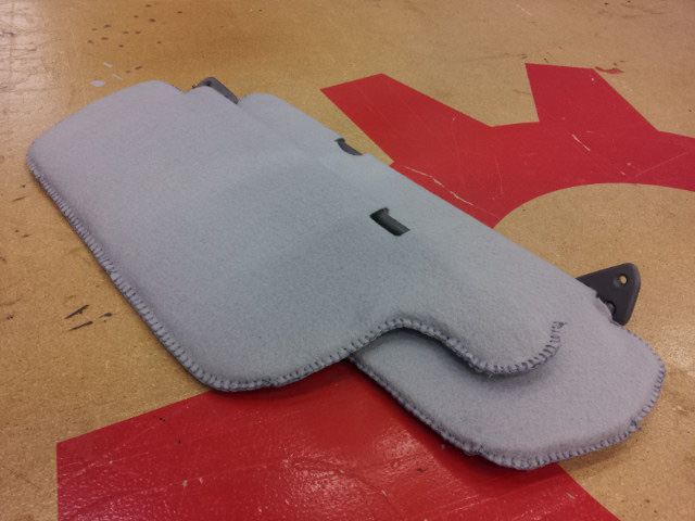 How to cover a car's sunvisors with felt