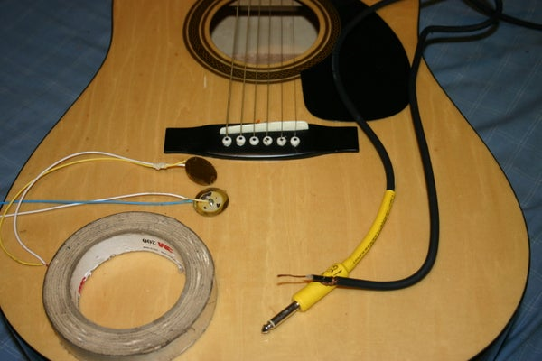 Acoustic Guitar Diy Piezo Pickups
