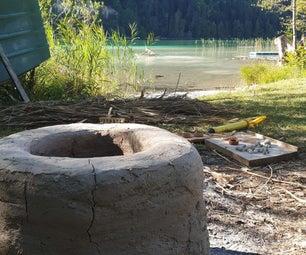 原始陶器木射击上升窑