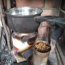 Tin Can Rocket Stove on Pellets (gravity Fed)