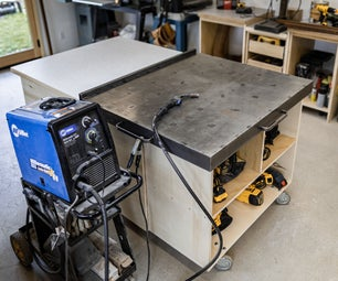 Welding Table Cover for a Workbench