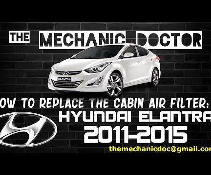 How to Replace the Cabin Air Filter: Hyundai Elantra 2011-2015