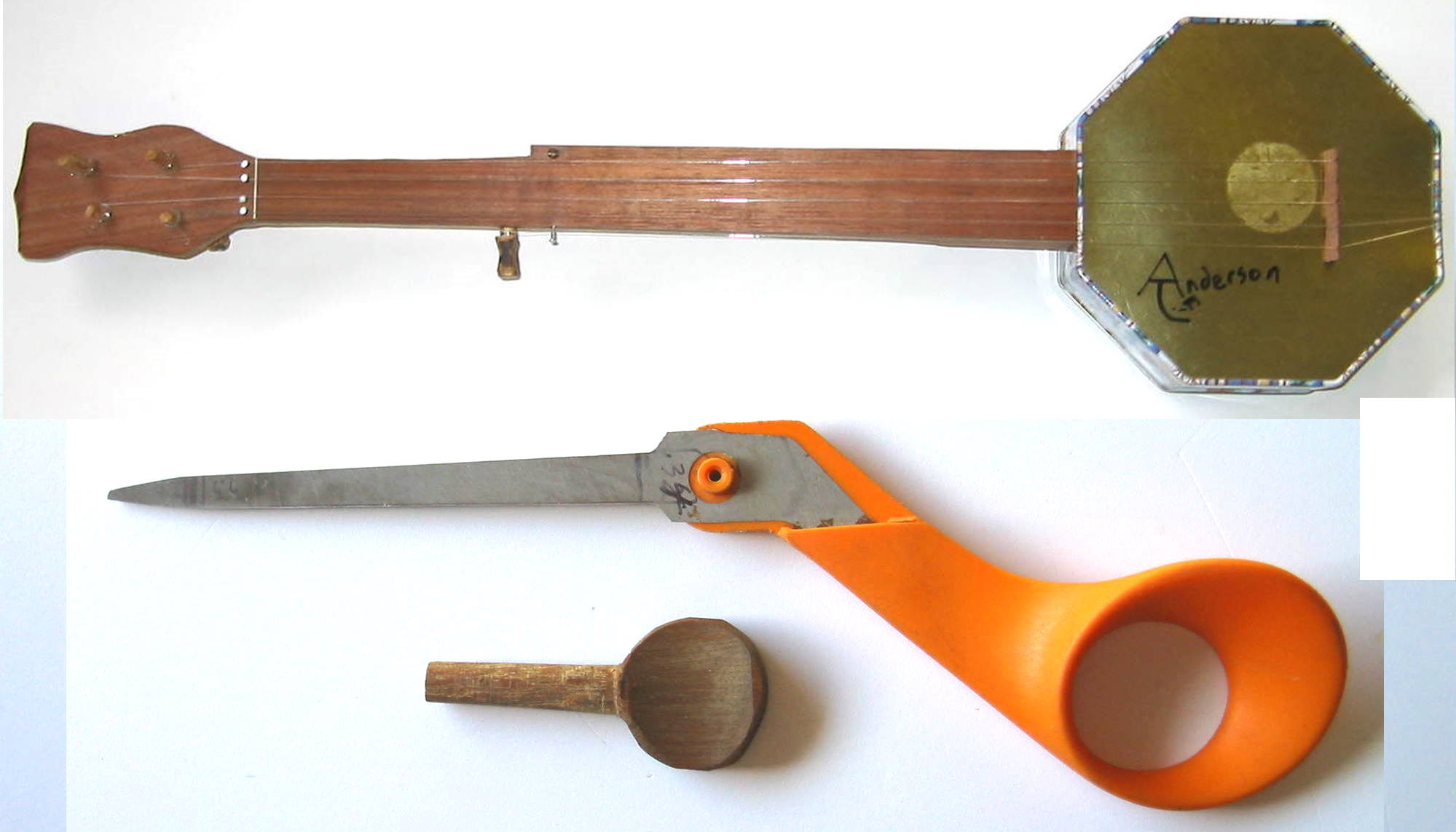 Cookie Tin Banjo Part 1:  Make a Tuning Peg Hole Reamer from Scissors