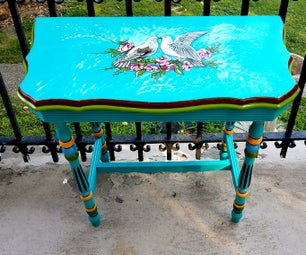 From Boring to Boho - Painted Furniture