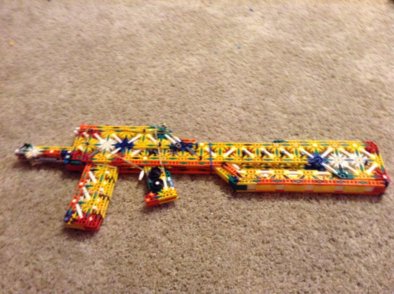 The Blackout a Knex Assault Rifle