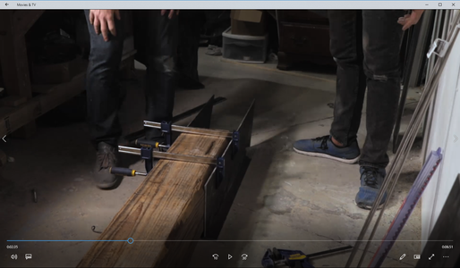 Cutting and Attaching the Steel Legs