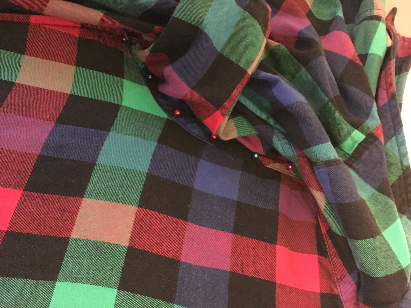 Get Comfortable With Pins - Pin Down the Front of the Shirt