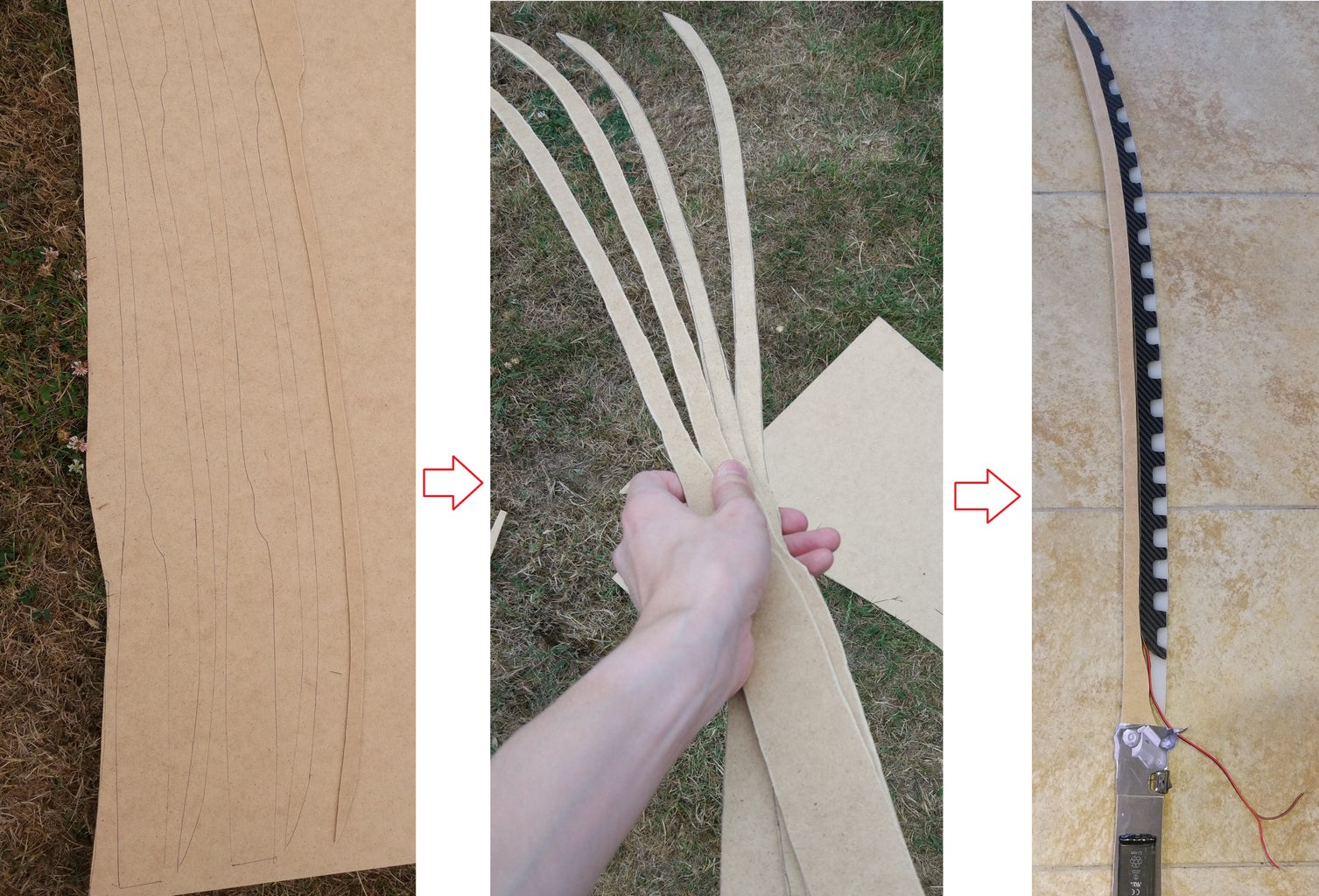 With the Paper Model, Cut 4 Support for the Blade on the MDF and Stick Them Together