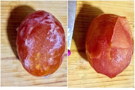 Removing Tomato Skin by Freezing