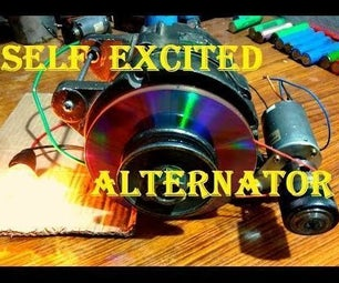 Self-exciting a Car Alternator Using a Small DC Generator