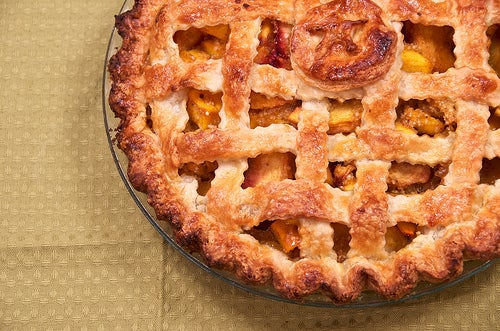 Peach-Mango Pie With a Lattice Crust