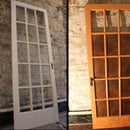 Copper Paneled French Door
