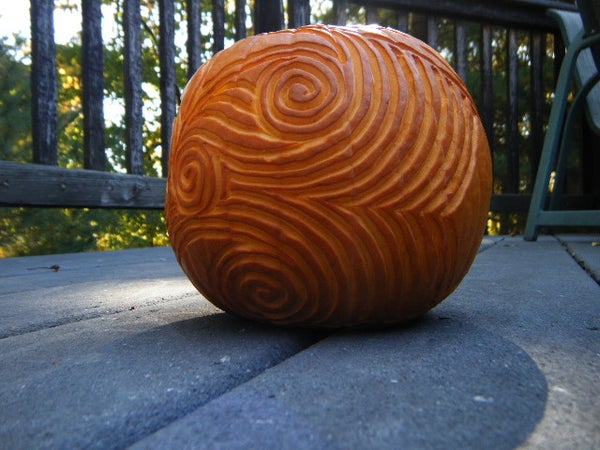 Swirl Pumpkin Carving