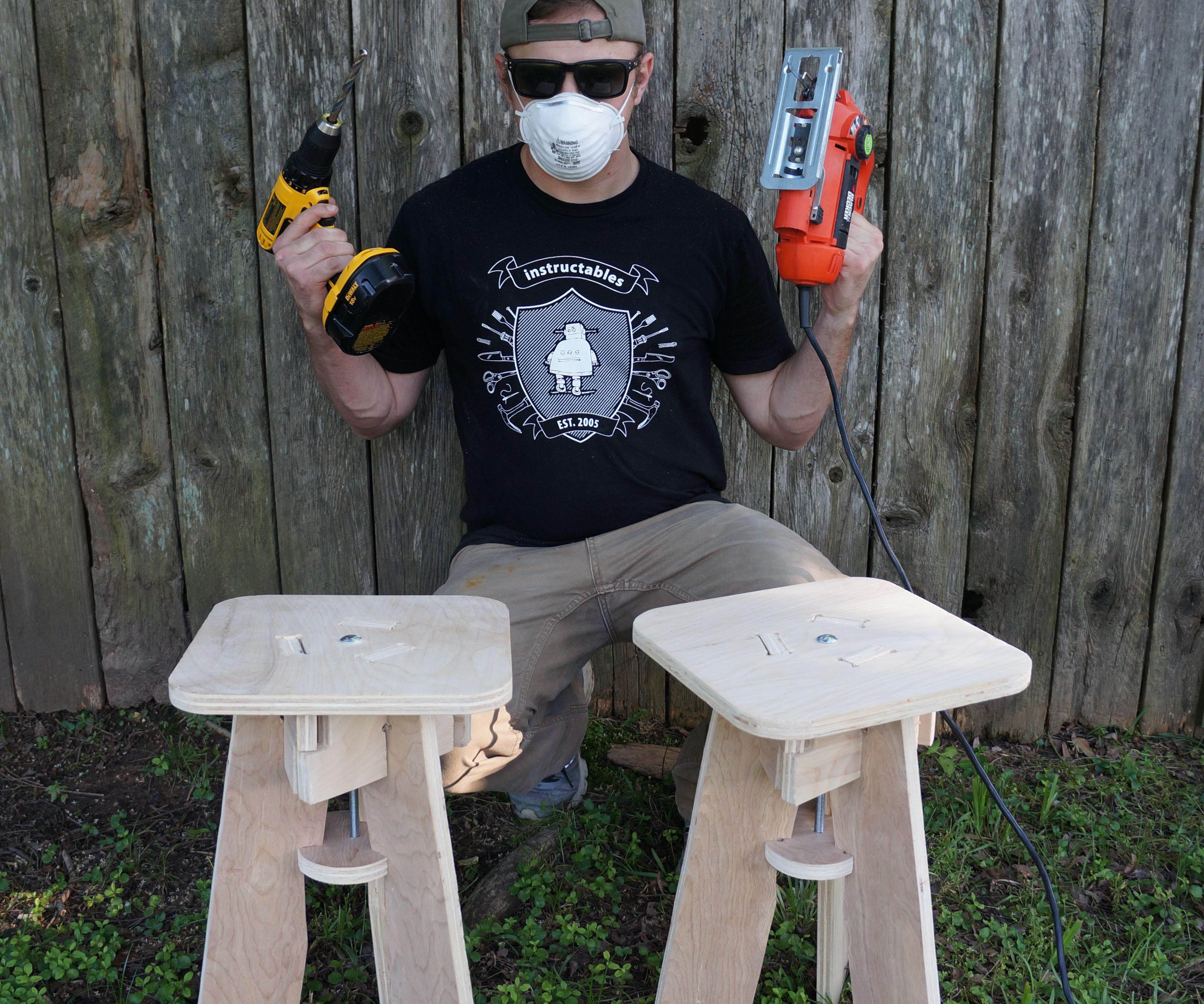 Pair O' Stools With a Pair O' Tools