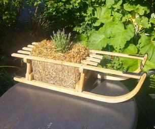 Sledge Straw Bale Plant Box