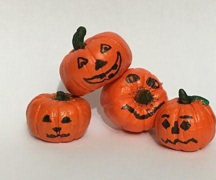 Miniature Clay Pumpkins - Halloween Crafts