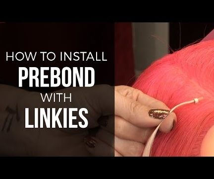 How to Install Prebond Hair Extensions With Linkies