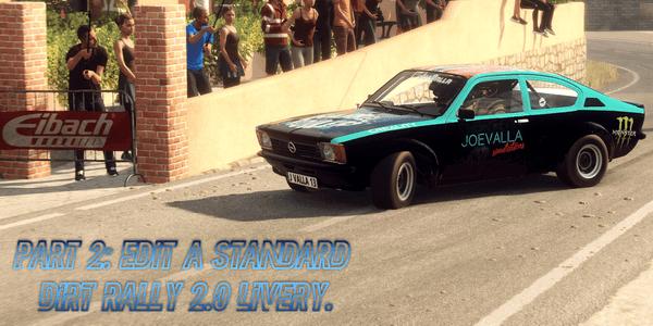 Edit a Standard Dirt Rally 2.0 Livery.