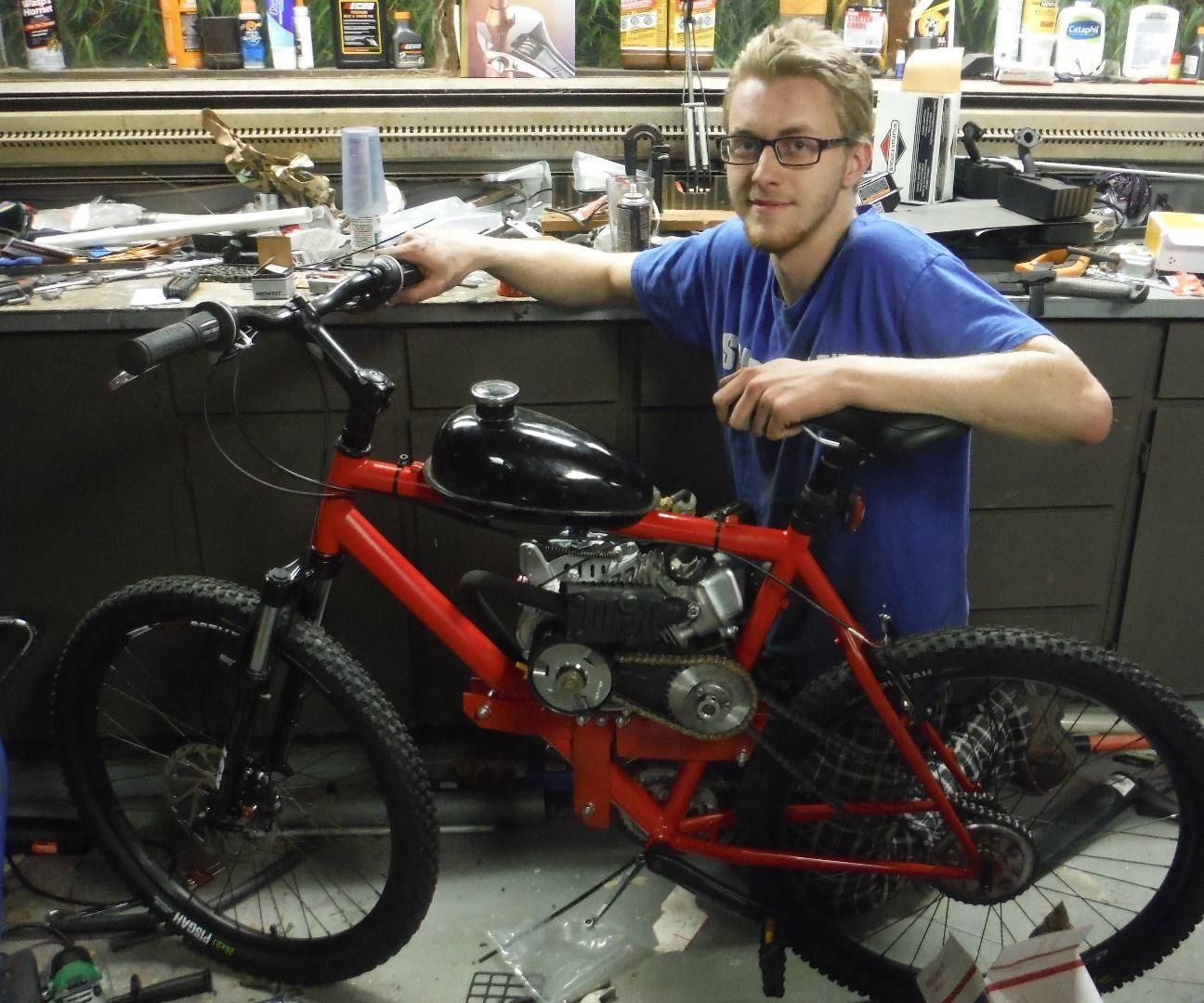 79cc Motorized Bicycle From Scratch