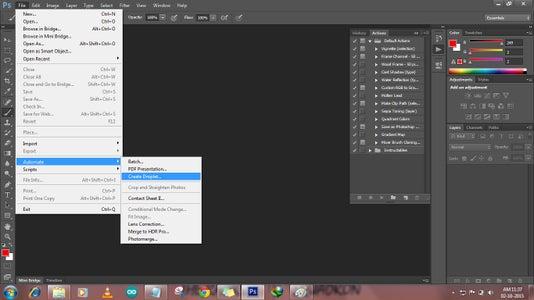 Click File→Automate→Create Droplet...