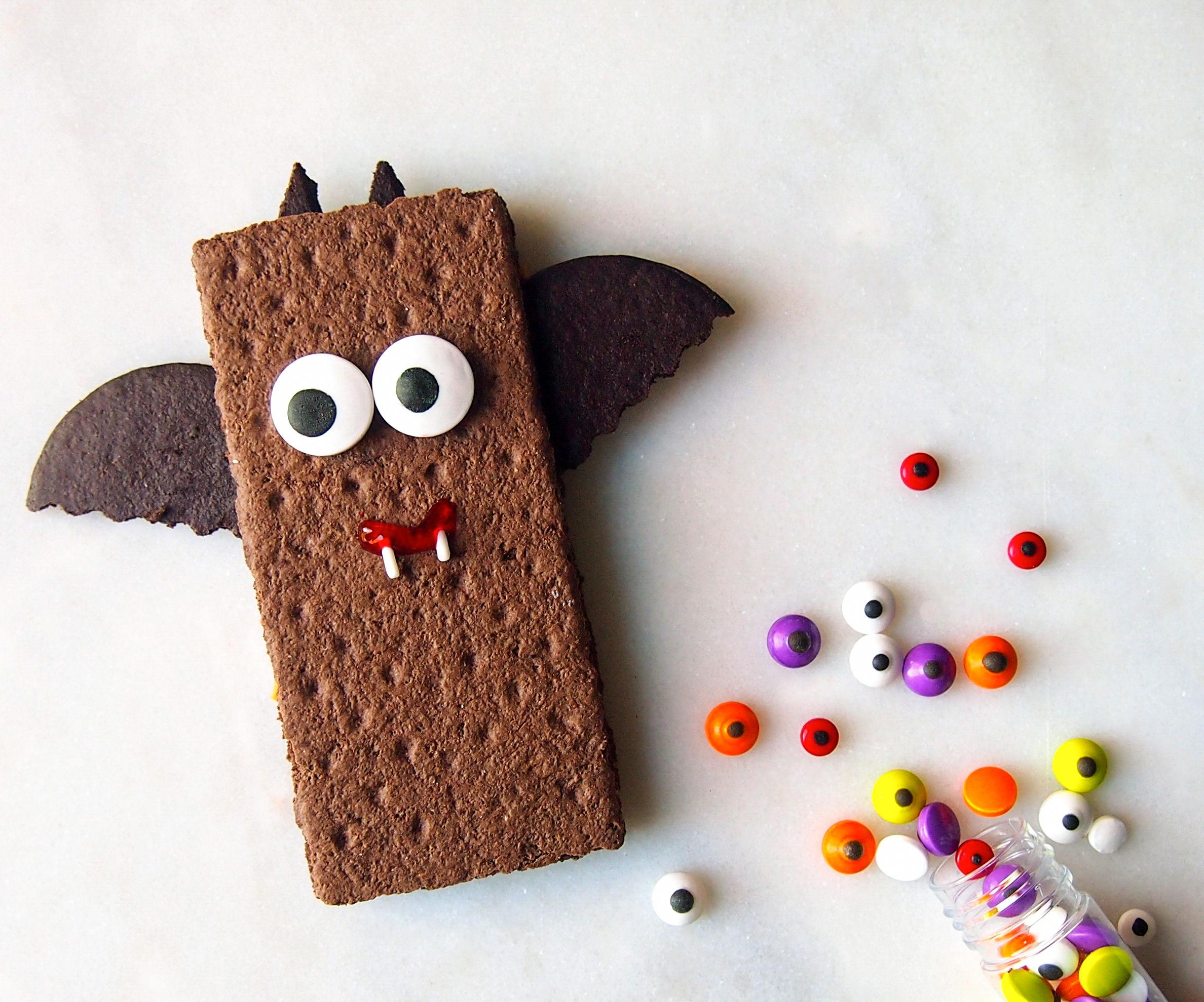 No Bake Halloween Bat Snack