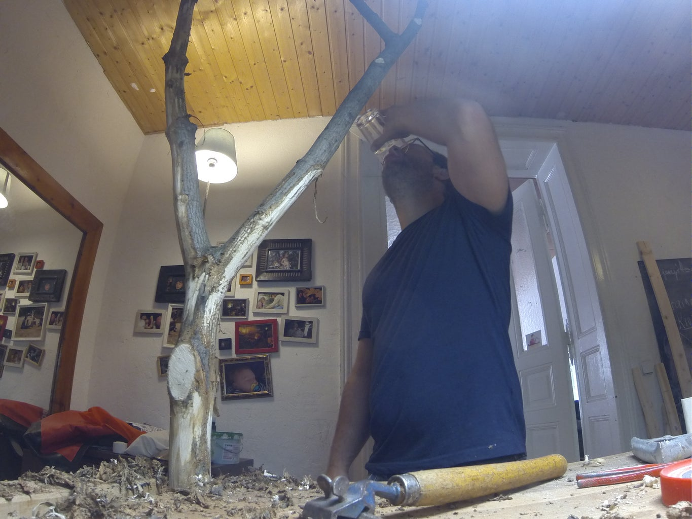 Removing the Bark From the Wood