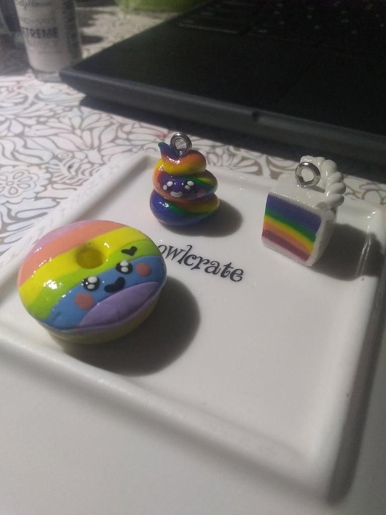 Cute and Easy Kawaii Rainbow Charms