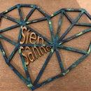 Laser cut Geometrisch Hart