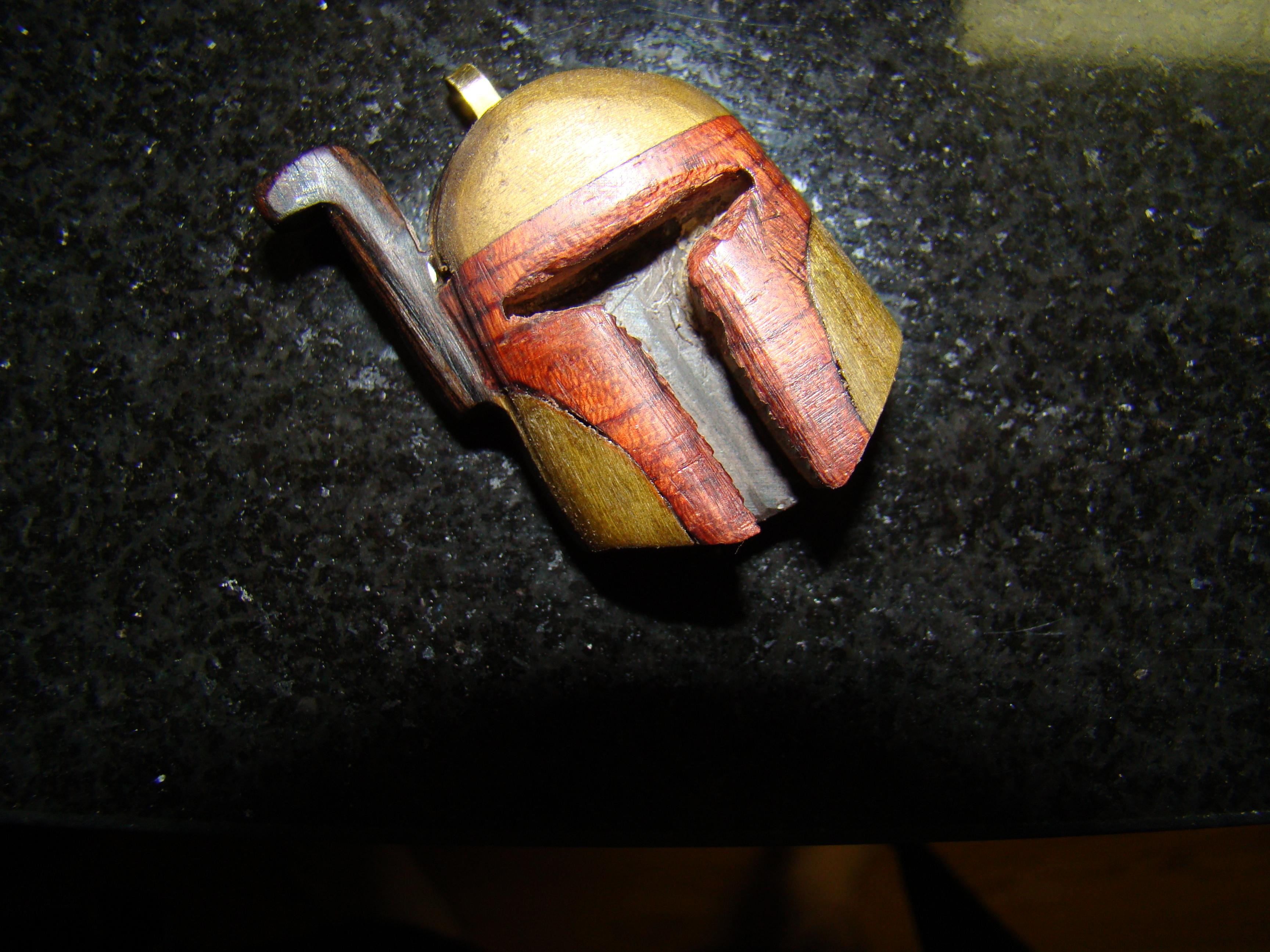 Wooden Boba Fett Necklace/ Keychain
