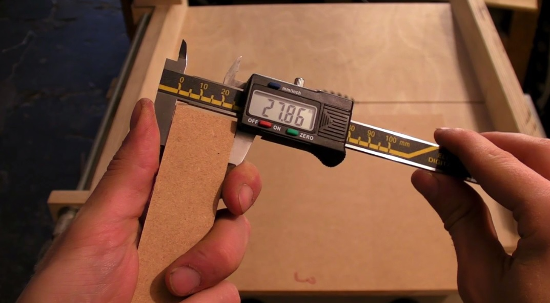 Table Saw Sledge Accuracy Test - Five Cut Method