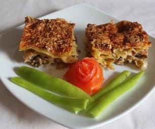 Smoked Salmon and Mushroom Lasagne