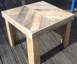Chevron Outdoor Pallet Table